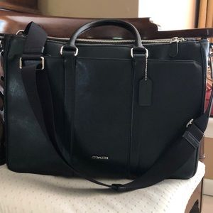 New, never been used, Black Coach Briefcase